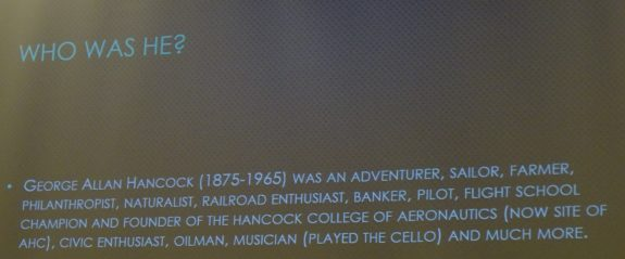 Who was George Alan Hancock
